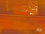 Plate reflection orange
